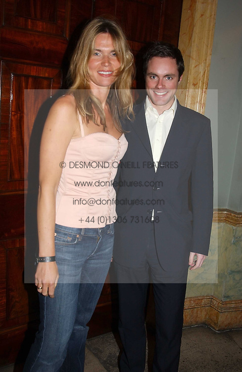 HENRY DEEDES and CELIA WALDEN at a party to celebrate Pamela Anderson's new role as spokesperson and newest face of the MAC Aids Fund's Viva Glam V Campaign held at Home House, Portman Square, London on 21st April 2005.<br />