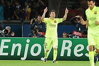 Fotball<br /> 30.09.2014<br /> Foto: Panoramic/Digitalsport<br /> NORWAY ONLY<br /> <br /> joie Lionel Messi (Barcelone)<br /> <br /> PSG / Paris Saint Germain vs Barcelona - Champions League