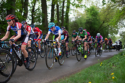 Sofia Bertizzolo of Astana rides near the front in the fourth short loop on Stage 2 of the Festival Elsy Jacobs - a 111.1 km road race, starting and finishing in Garnich on April 29, 2018, in Luxembourg. (Photo by Balint Hamvas/Velofocus.com)