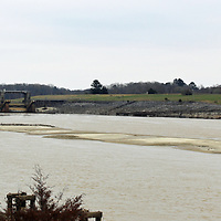 Sediment accumulated south of the Aberdeen Lock and Dam after recent floods has halted barge traffic on the waterway. Last week, the Tennessee-Tombigbee Waterway Authority's administrator appeared before representatives in Washington, D.C. to request emergency assistance from Congress to restore the section to normal width.