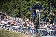 Charlie Harrison (USA) on his downhill run at the 2018 UCI MTB World Championships - Lenzerheide, Switzerland