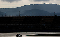 Mercedes' Lewis Hamilton during day two of pre-season testing at the Circuit de Barcelona-Catalunya.