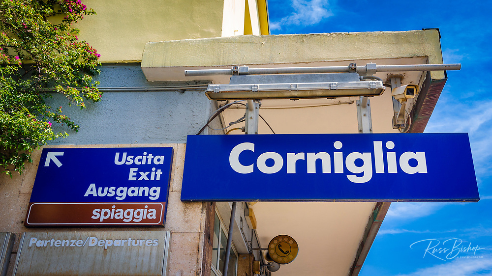 Corniglia stop on the Cinque Terre railway, Liguria, Italy