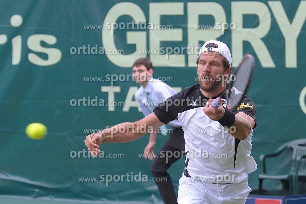 17.06.2015, Gerry Weber Stadion, Halle Westfalen, GER, ATP Tour, Gerry Weber Open 2015, Tag 3, im Bild Juergen Melzer (AUT) // during day tree of 2015 Gerry Weber Open of ATP world Tour at the Gerry Weber Stadion in Halle Westfalen, Germany on 2015/06/17. EXPA Pictures &copy; 2015, PhotoCredit: EXPA/ Eibner-Pressefoto/ Franz<br /> <br /> *****ATTENTION - OUT of GER*****