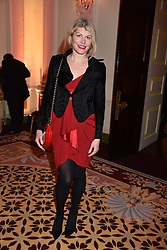 Meredith Ostrom at a reception to celebrate the publication on 'Mother Anguish' by Basia Briggs held in The Music Room, The Ritz Hotel, 150 Piccadilly, London, England. 04 December 2017.