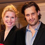 NLD/Amsterdam/20120617 - Premiere Het Geheugen van Water, cast, Tjitske Reidinga en partner Vincent Croiset