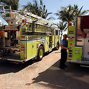 Vakantie Miami Amerika, brandweerwagen, ladderwagen engine 10 + 21
