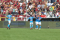September 23, 2018 - Turin, Piedmont, Italy - Simone Verdi (SSC Napoli) celebrates after scoring during the Serie A football match between Torino FC and SSC Napoli at Olympic Grande Torino Stadium on September 23, 2018 in Turin, Italy. (Credit Image: © Massimiliano Ferraro/NurPhoto/ZUMA Press)