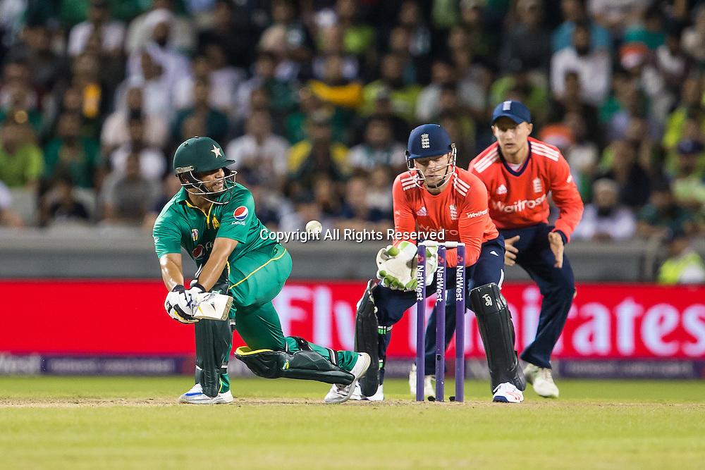 07.09.2016. Old Trafford, Manchester, England. Natwest International T20 Cricket. England Versus Pakistan. Pakistan batsman Khalid Latif.