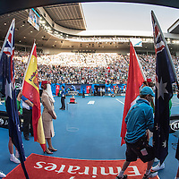 A general view of the walk on ahead of the men's final on day fourteen of the 2017 Australian Open at Melbourne Park on January 29, 2017 in Melbourne, Australia.<br /> (Ben Solomon/Tennis Australia)