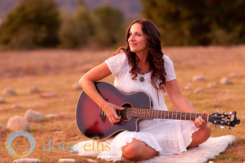Musician and CD cover photos for Amy Sunshine Therrien in Ojai, CA
