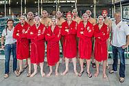 29-03-2014 : WATERPOLO : UZSC - DE ZIJL : UTRECHT<br /> <br /> Team UZSC voor presentatie sponsor NBWM<br /> Eredivisie Heren - Seizoen 2013 / 2014<br /> <br /> Foto: Gertjan Kooij
