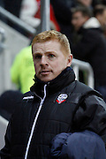 Neil Lennon during the Sky Bet Championship match between Rotherham United and Bolton Wanderers at the New York Stadium, Rotherham, England on 27 January 2015. Photo by Richard Greenfield.
