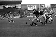 Martin O'Doherty of Cork beats Christy Heffernan of Kilkenny to the ball to break up a Kilkenny attack, at the All Ireland Hurling Final at Croke Park, Dublin. Kilkenny finally won the match, beating Cork 3–18 to 1–13.<br />