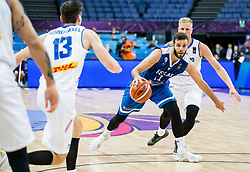 Nikos Pappas of Greece during basketball match between National Teams of Greece and Iceland at Day 1 of the FIBA EuroBasket 2017 at Hartwall Arena in Helsinki, Finland on August 31, 2017. Photo by Vid Ponikvar / Sportida