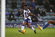 Chesterfield FC striker Rai Simons (22) with an attempt at goal during the EFL Sky Bet League 1 match between Peterborough United and Chesterfield at London Road, Peterborough, England on 10 December 2016. Photo by Nigel Cole.