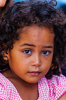 Kanak (Melanesian) girl, Island of Ouvea, Loyalty Islands, New Caledonia