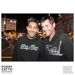 Ritesh Parbhu;Andrew Richardson at the Go Wellington Cuba St Carnival Night Parade at Courtenay Place, Wellington, New Zealand.