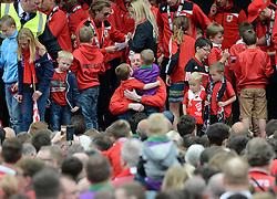 Adam Baker - Photo mandatory by-line: Dougie Allward/JMP - Mobile: 07966 386802 - 04/05/2015 - SPORT - Football - Bristol -  - Bristol City Celebration Tour
