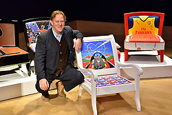 © Licensed to London News Pictures. 29/02/2016. DAVE BENT attends the Bonham's Chair Auction for Chiva African Aids Charity.He designed a chair for the auction . London, UK. Photo credit: Ray Tang/LNP