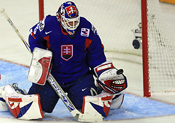 Goalkeeper Jan Lasak at ice-hockey match Slovakia vs Norway at Preliminary Round (group C) of IIHF WC 2008 in Halifax, on May 03, 2008 in Metro Center, Halifax, Canada. (Photo by Vid Ponikvar / Sportal Images)