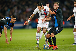 November 6, 2019, Paris, France: PSG's Angel Di Maria and Club's Mats Rits fight for the ball during the match between French club Paris Saint-Germain Football Club and Belgian soccer team Club Brugge KV, Wednesday 06 November 2019 in Paris, France, on day four in Group A, in the first round of the UEFA Champions League. (Credit Image: © Bruno Fahy/Belga via ZUMA Press)
