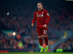 LIVERPOOL, ENGLAND - Boxing Day, Wednesday, December 26, 2018: Liverpool's Xherdan Shaqiri looks dejected after missing a chance during the FA Premier League match between Liverpool FC and Newcastle United FC at Anfield. (Pic by David Rawcliffe/Propaganda)