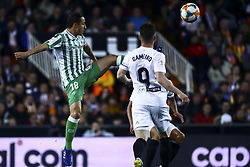 February 28, 2019 - Valencia, Spain - Guardado  of Real Betis Balompi During Spanish King La Copa match between  Valencia cf vs Real Betis Balompie Second leg  at Mestalla Stadium on February 28, 2019. (Photo by Jose Miguel Fernandez/NurPhoto) (Credit Image: © Jose Miguel Fernandez/NurPhoto via ZUMA Press)