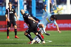 """Foto LaPresse/Filippo Rubin<br /> 03/03/2019 Ferrara (Italia)<br /> Sport Calcio<br /> Spal - Sampdoria - Campionato di calcio Serie A 2018/2019 - Stadio """"Paolo Mazza""""<br /> Nella foto: RICCARDO SAPONARA (SAMPDORIA) VS SERGIO FLOCCARI (SPAL)<br /> <br /> Photo LaPresse/Filippo Rubin<br /> March 03, 2019 Ferrara (Italy)<br /> Sport Soccer<br /> Spal vs Sampdoria - Italian Football Championship League A 2018/2019 - """"Paolo Mazza"""" Stadium <br /> In the pic: RICCARDO SAPONARA (SAMPDORIA) VS SERGIO FLOCCARI (SPAL)"""