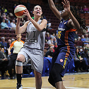 UNCASVILLE, CONNECTICUT- MAY 05: Haley Peters #7 of the San Antonio Stars in action during the San Antonio Stars Vs Connecticut Sun preseason WNBA game at Mohegan Sun Arena on May 05, 2016 in Uncasville, Connecticut. (Photo by Tim Clayton/Corbis via Getty Images)