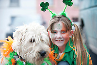 18/03/2013 Oige and Sarah O Donnell from Gort  at the Gort St Patrick's Day Parade. Picture:Andrew Downes.