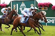 COPPER KNIGHT (1) ridden by David Allan and trained by Tim Easterby winning The Listed John Smiths City Of Walls Stakes over 5f (£50,000) during the John Smiths Diamond Cup Meeting at York Racecourse, York, United Kingdom on 13 July 2019.