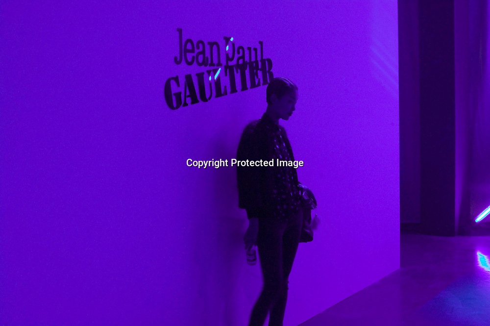 BEIJING, MAY 11, 2012 : a model gets her picture taken after a  Jean-Paul Gaultier fashion  show in Beijing.