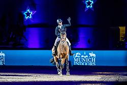 BLUM Simone (GER), Askari<br /> München - Munich Indoors 2018<br /> Showabend - Die Nacht der WM Helden<br /> 24. November 2018<br /> © www.sportfotos-lafrentz.de/Stefan Lafrentz