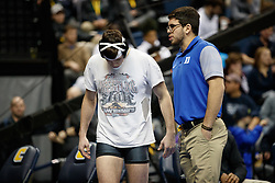 2018 January 02: Mitch Finesilver of Duke Blue Devils wrestling on Tuesday, January, 2, 2018 during the Southern Scuffle at McKenzie Arena in Chattanooga, TN.<br /> <br /> 157: Jason Nolf (Penn State) F Mitch Finesilver (Duke), 0:51