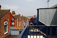 Luton Town fans enter the Kenilworth Road stadium via the Oak Road Stand with residential houses in the background ahaed of the Skrill Conference Premier match at Kenilworth Road, Luton<br /> Picture by David Horn/Focus Images Ltd +44 7545 970036<br /> 21/04/2014