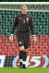 CARDIFF, WALES - Friday, September 5, 2008: Wales' goalkeeper Wayne Hennessey in action against Azerbaijan during the opening 2010 FIFA World Cup South Africa Qualifying Group 4 match at the Millennium Stadium. (Photo by David Rawcliffe/Propaganda)