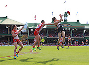 Jeremy Cameron of the Giants takes a mark during the 2013 AFL Round 16 match between the Sydney Swans and the GWS Giants at the SCG, Sydney on July 14, 2013. (Photo: Craig Golding/AFL Media)