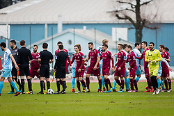 Players during football match between NK Triglav Kranj and ND Gorica in Round #24 of Prva Liga Telekom Slovenije 2017/18, on March 18, 2018 in Sportni park Kranj, Kranj, Slovenia. Photo by Ziga Zupan / Sportida