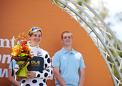 Nadia Quagliotto (ITA) earns the climber's jersey at Santos Women's Tour Down Under 2019 - Stage 1, a 112.9 km road race from Hahndorf to Birdwood, Australia on January 10, 2019. Photo by Sean Robinson/velofocus.com