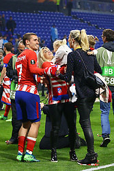 May 16, 2018 - Lyon, France - Olympique de Marseille v Atletico de Madrid - Uefa Europa League Final.Antoine Griezmann of Atletico celebrates with his family at Groupama Stadium in Lyon, France on May 16, 2018. (Credit Image: © Matteo Ciambelli/NurPhoto via ZUMA Press)