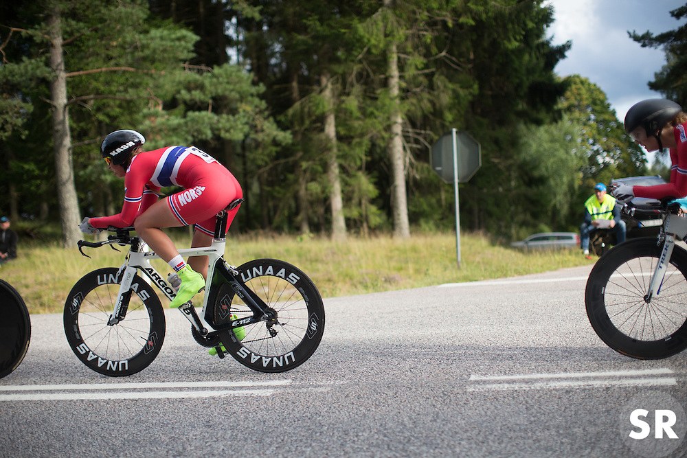 Team Norway rides during the 42,5 km team time trial of the UCI Women's World Tour's 2016 Crescent Vårgårda women's road cycling race on August 19, 2016 in Vårgårda, Sweden. (Photo by Balint Hamvas/Velofocus)