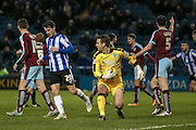 Tom Heaton (Burnley) makes a save during the Sky Bet Championship match between Sheffield Wednesday and Burnley at Hillsborough, Sheffield, England on 2 February 2016. Photo by Mark Doherty.