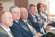 14/05/2017  Repro Free:  If looks could kill....<br /> Ciaran Cannon TD, Cllr. Pat Hynes, Cllr. Michael Fahy, Sean Canny TD and Anne Rabbitte TD listening to  Minister Simon Coveney was in Kinvara to officially open the new wastewater treatment plant which was constructed following an investment of &euro;5.1 million by Irish Water. . Photo:Andrew Downes, xposure