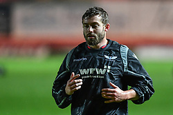 Scarlets' Leigh Halfpenny during the pre match warm up - Mandatory by-line: Craig Thomas/Replay images - 26/12/2017 - RUGBY - Parc y Scarlets - Llanelli, Wales - Scarlets v Ospreys - Guinness Pro 14