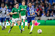 Brighton & Hove Albion defender Ezequiel Schelotto (21) on the ball during the The FA Cup match between Brighton and Hove Albion and Sheffield Wednesday at the American Express Community Stadium, Brighton and Hove, England on 4 January 2020.