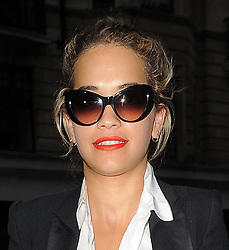 Rita Ora visits Percy & Reed hair salon in central London, UK. 08/08/2013<br /> BYLINE MUST READ : GOTCHAIMAGES.COM<br /> <br /> Copyright by © Gotcha Images Ltd. All rights reserved.<br /> Usage of this image is conditional upon the acceptance <br /> of Gotcha Images Ltd, terms and conditions available at<br /> www.gotchaimages.com