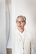 Tokyo, March 19 2014 - Portrait of Japanese artist and photographer Hiroshi Sugimoto at his atelier.