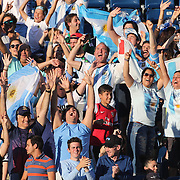 FOXBOROUGH, MASSACHUSETTS - JUNE 18: Fans of both countries react to the aerial TV camera during the Argentina Vs Venezuela Quarterfinal match of the Copa America Centenario USA 2016 Tournament at Gillette Stadium on June 18, 2016 in Foxborough, Massachusetts. (Photo by Tim Clayton/Corbis via Getty Images)