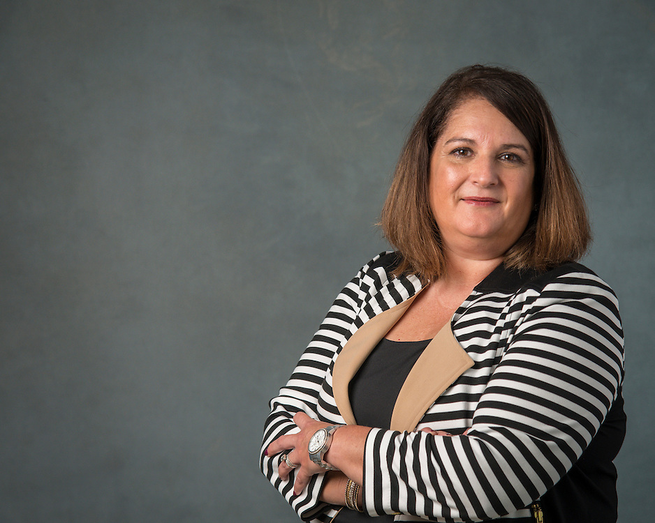 Gloria Cavazos poses for a photograph, September 2, 2015.